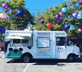 Food truck, catering, ice cream taco